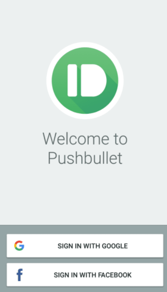 Pushbullet Sign In