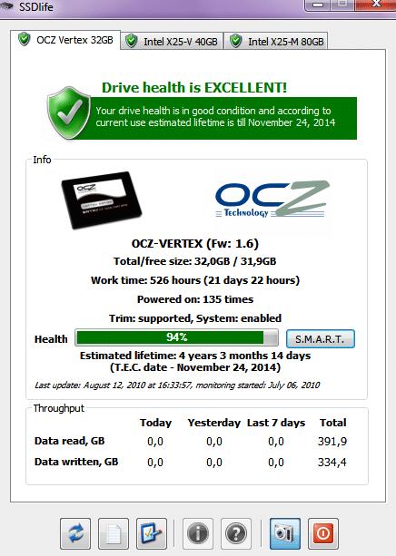 SSD Life Free Tools Cek Kesehatan HDD dan SSD