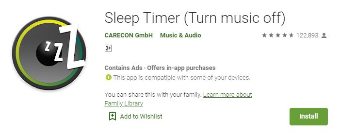Sleep Timer For Music