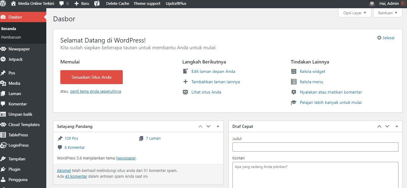 4 Cara Menyesuaikan Dasbor Admin WordPress