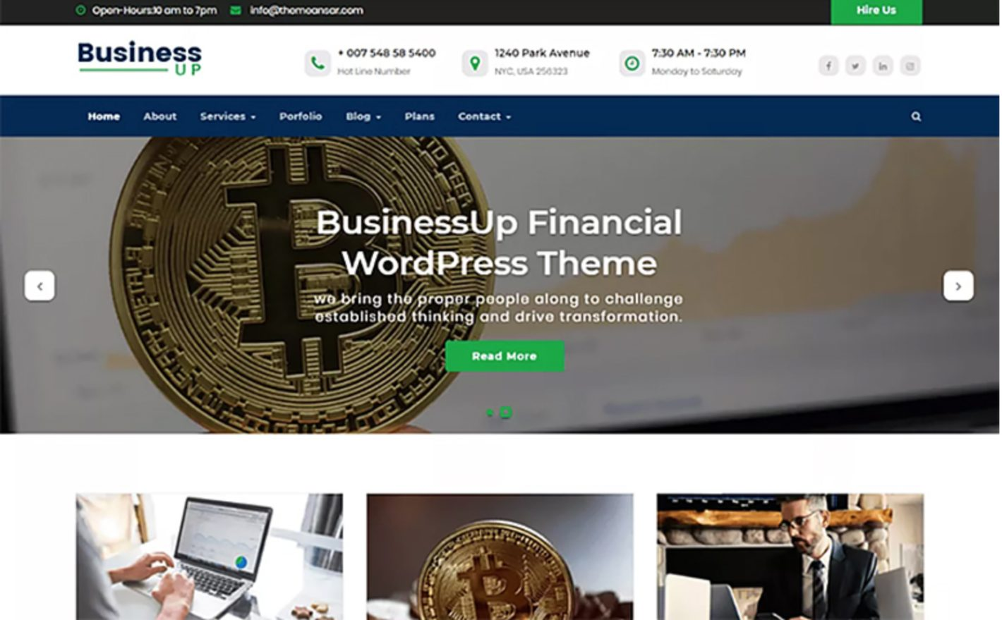Businessup Cryptocurrency WordPress Theme
