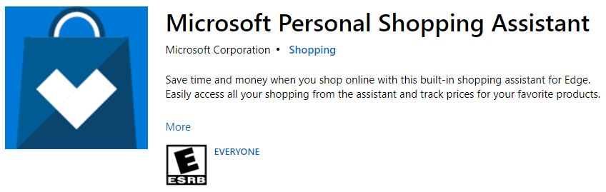 Microsoft Personal Shopping Assistant