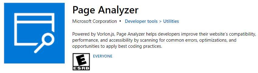 Page Analyzer Extension Edge
