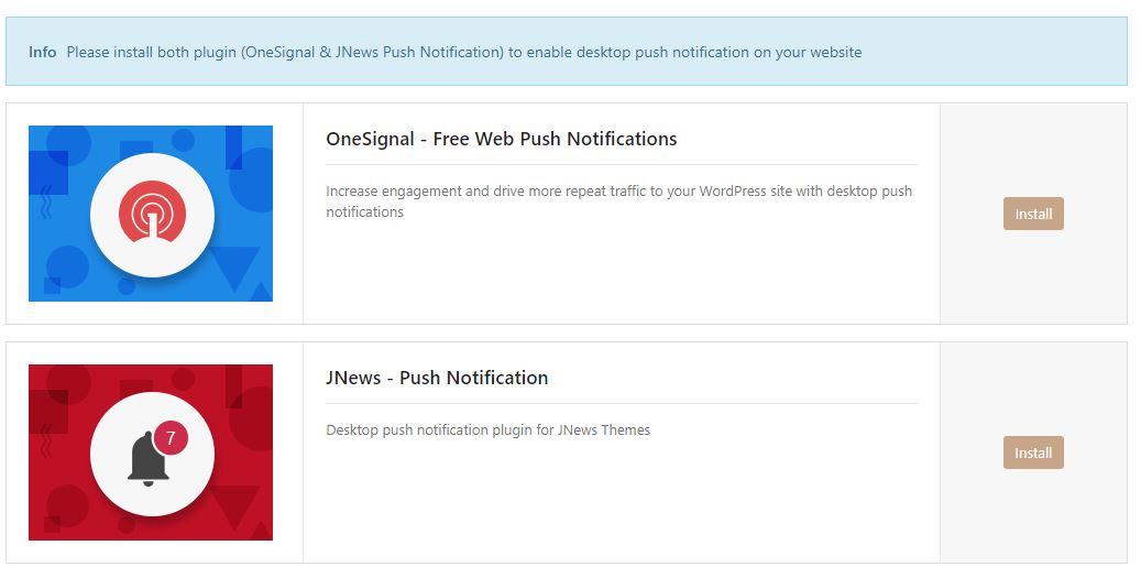 Desktop Push Notification