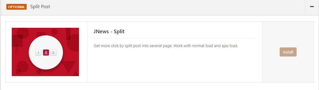 Post Split Jnews