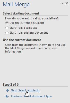Create Mail Merge