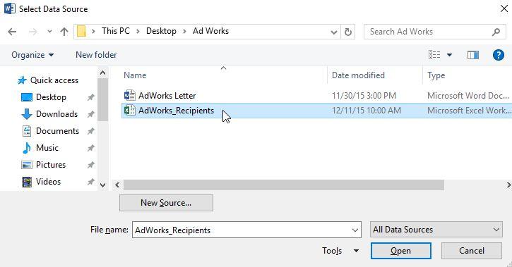 how to create Mail Merge