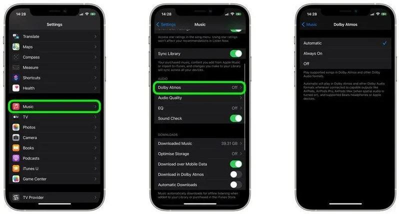 Cara Mengaktifkan Dolby Atmos untuk Apple Music Di iPhone